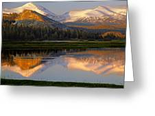 6m6530-a-peaks Reflected Touolumne Meadows  Greeting Card