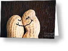 Peanuts In Love Greeting Card