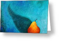 Pear And Its Big Shadow Greeting Card