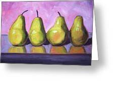 Pear Line Greeting Card