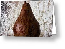 Pear On The Rocks Greeting Card