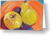 Pear Plums Apple Greeting Card