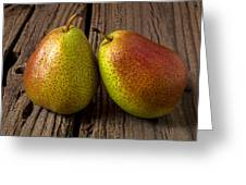 Pear Still Life Greeting Card