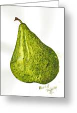 Pear Study#3 Greeting Card