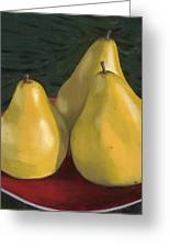 Pear Trio 1  Greeting Card