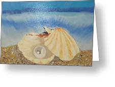 Pearl In A Shell Greeting Card