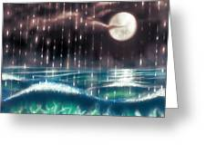 Pearl Rain @ Precious Pearl Ocean Greeting Card