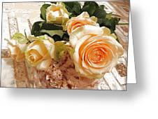 Pearl Roses Greeting Card