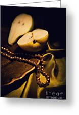 Pearls And Pears Greeting Card