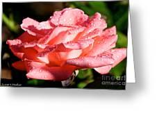 Pearly Petals Greeting Card