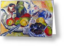 Pears And Figs Greeting Card