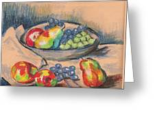 Pears And Grapes 2 Greeting Card