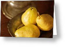 Pears And Great Grandpa's Silver Greeting Card