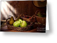 Pears At The Old Farm Market Greeting Card