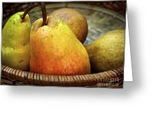 Pears In A Basket Greeting Card