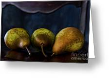Pears On A Chair Greeting Card
