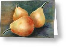 Pears Still Life Greeting Card