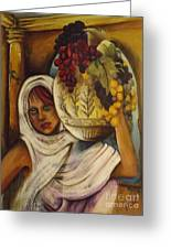 Peasant Girl Greeting Card