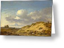 Peasants Driving Cattle And Sheep Greeting Card