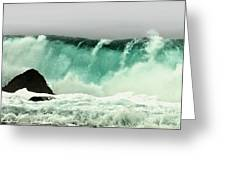 Pebble Beach Crashing Wave Greeting Card by Artist and Photographer Laura Wrede