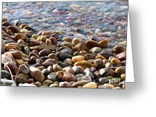 Pebbles On The Shore Greeting Card