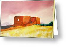 Pecos Mission Nm Greeting Card