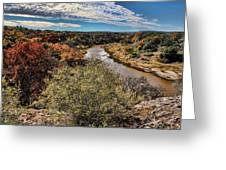 Pedernales River In Autumn Greeting Card