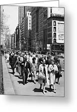 Pedestrians In New York Greeting Card
