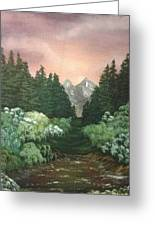 Peek-a-boo Mountains Greeting Card