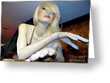 Peekaboo Blonde Greeting Card