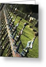 Peeling Graveyard Perspective Greeting Card