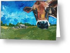 Peeping Bessie Greeting Card