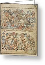 Peers And Commoners Fighting Greeting Card