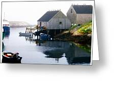 Peggy's Cove Boat And Fisherman's Boat House Greeting Card