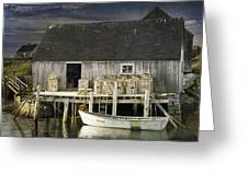 Peggys Cove Fishing Village Greeting Card