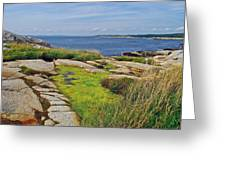 Peggy's Cove From Lighthouse-ns Greeting Card
