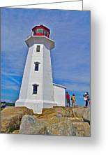 Peggy's Cove Lighthouse Closeup-ns Greeting Card