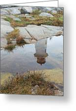 Peggy's Cove Reflection Greeting Card by Gordon  Grimwade