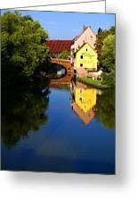 Pegnitz River In Nuremberg Greeting Card
