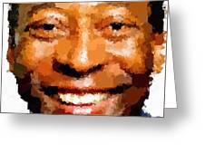 Pele Portrait Greeting Card