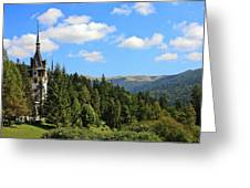 Peles Castle Greeting Card