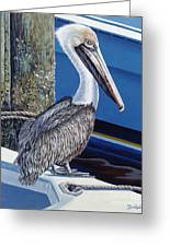 Pelican Blues Greeting Card