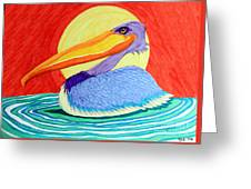 Pelican In The Sun  Greeting Card