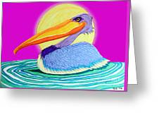 Pelican On The Water 2 Greeting Card