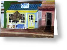 Pelican Restaurant On Lake Ave In Lake Worth Florida Greeting Card