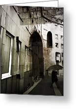 Pelted Streets  Greeting Card