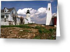 Pemaquid Complex Greeting Card by Skip Willits