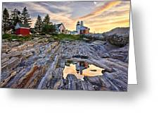 Pemaquid Lighthouse Reflection Greeting Card