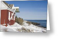 Pemaquid Point Bell House On The Maine Coast Greeting Card