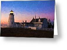 Pemaquid Point Light At Dawn Greeting Card